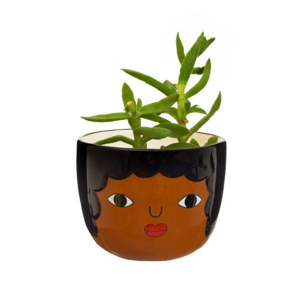 Mini Chantelle Face Ceramic Planter