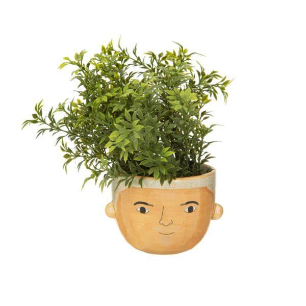 Mini Bradley Face Ceramic Planter