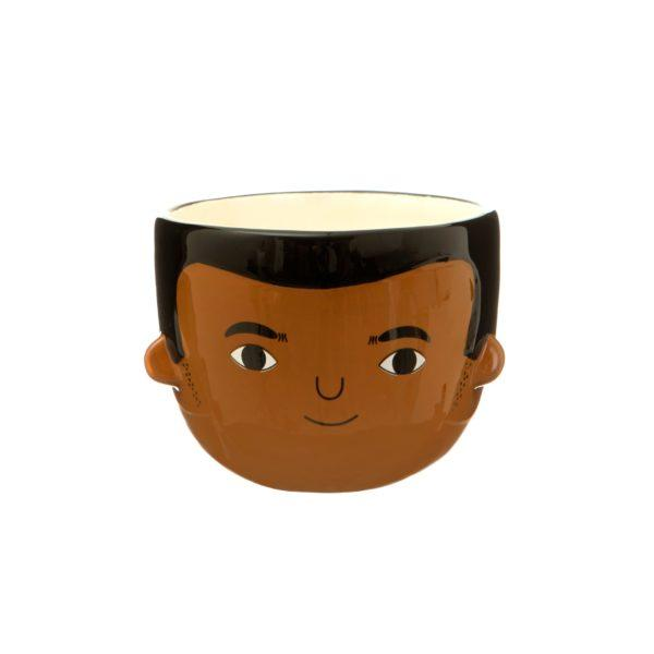 Mini Ezra Face Ceramic Planter