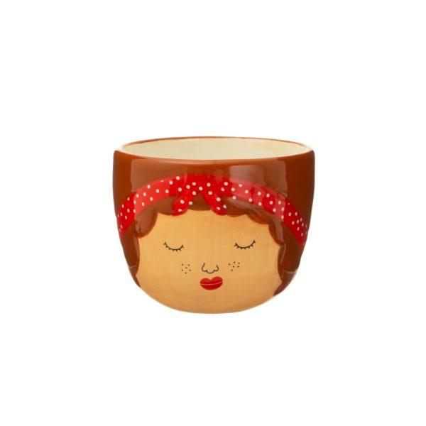 Mini Libby Face Ceramic Planter