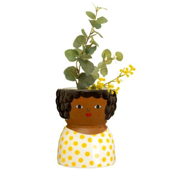 Chantelle Face Ceramic Planter