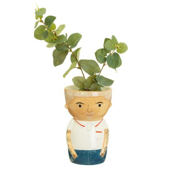 Bradley Face Ceramic Vase