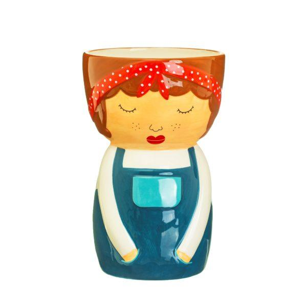 Libby Face Ceramic Vase