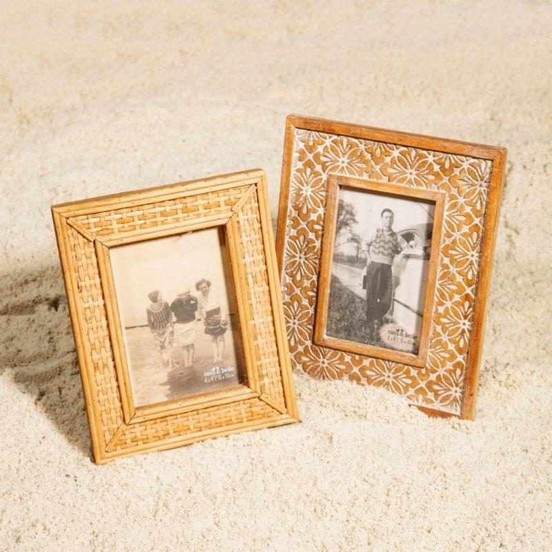 Rattan Picture Frame 6x4""