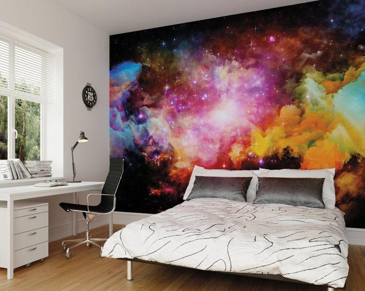 Galaxy Stars Mural Wallpaper