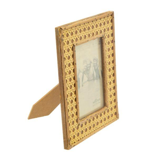 """Open Weave Rattan Picture Frame 6x4"""""""