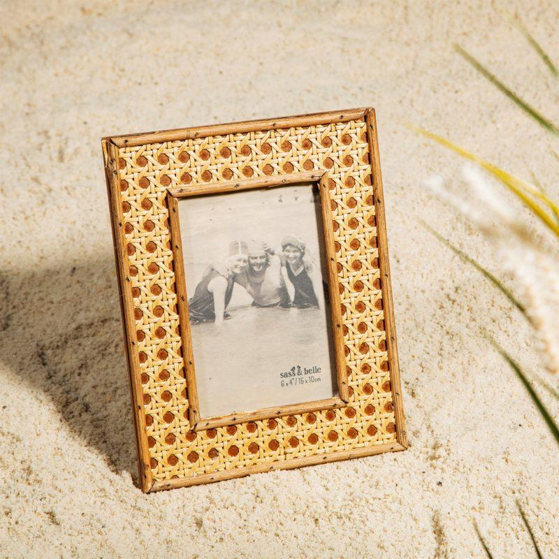 Open Weave Rattan Picture Frame 6x4