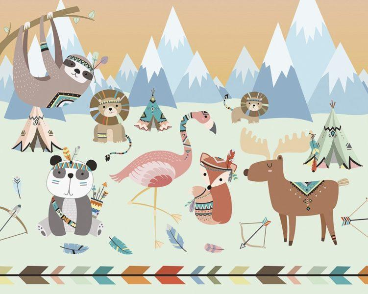 Animal Reservation Wall Mural Wallpaper