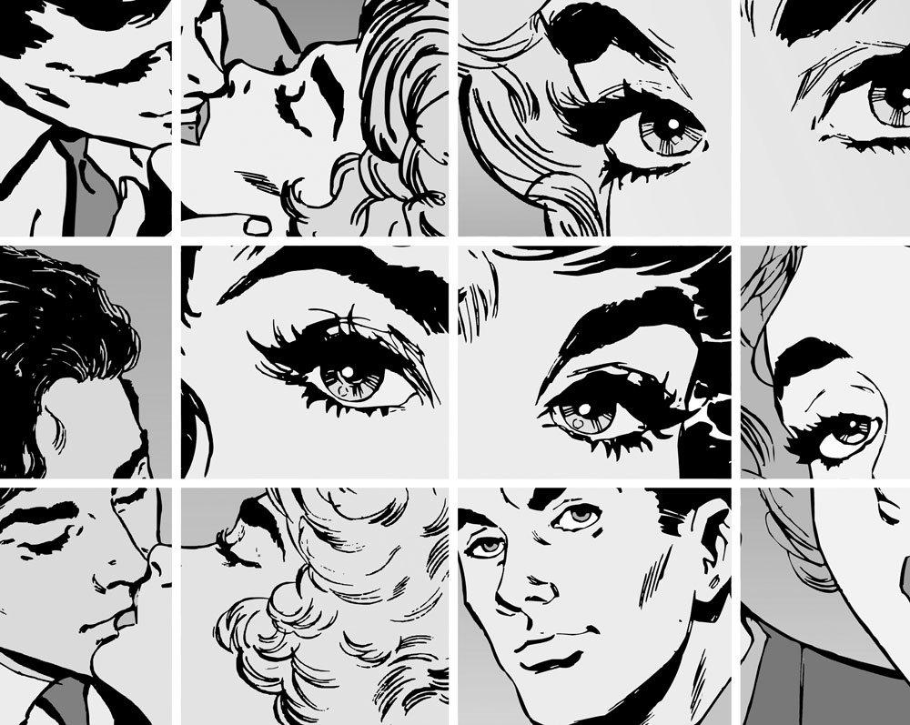 Black White Pop Art Wall Mural Wallpaper From The Gifted Few