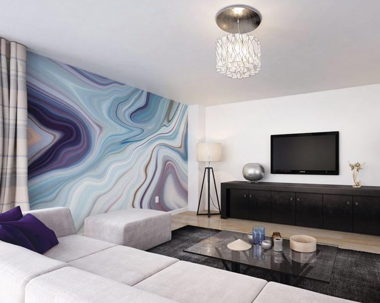 Marbled Ink Wall Mural Wallpaper