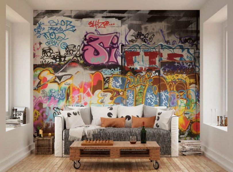 Urban Graffiti Wall Mural Wallpaper
