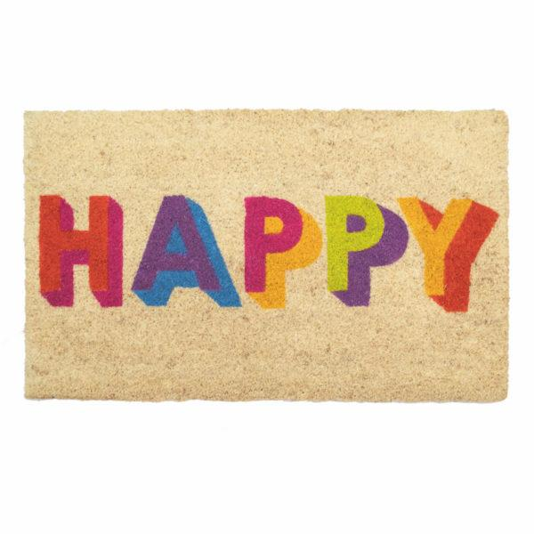 Happy Block Letters Doormat