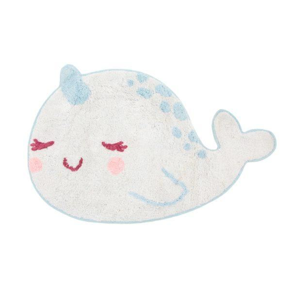 Alma Narwhal Children's Cotton Rug