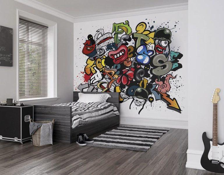 Spray Paint Graffiti Wall Mural Wallpaper
