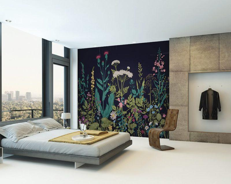 Botanical Fleur Wall Mural Wallpaper