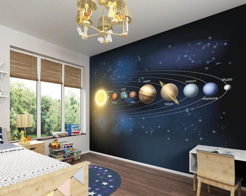 Planets Wall Mural Wallpaper