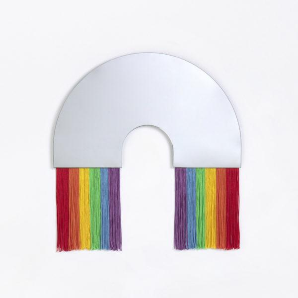 Rainbow Tassel Wall Mirror - Small