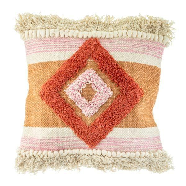 Nevada Pink Tufted Diamond Cushion