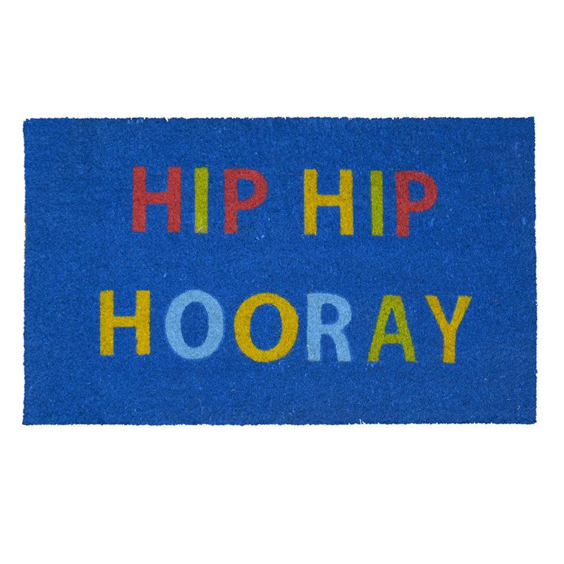 Hip Hip Hooray Blue Doormat