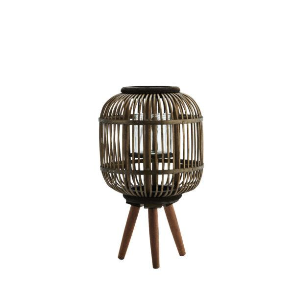 Bamboo Lantern on stand - Brown