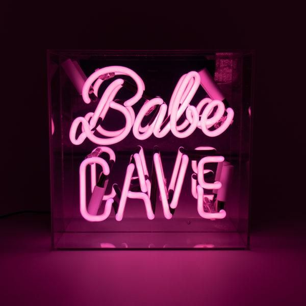 Babe Cave Acrylic Neon Light Box