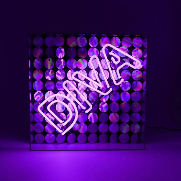 Diva Acrylic Neon Light Box With Sequins