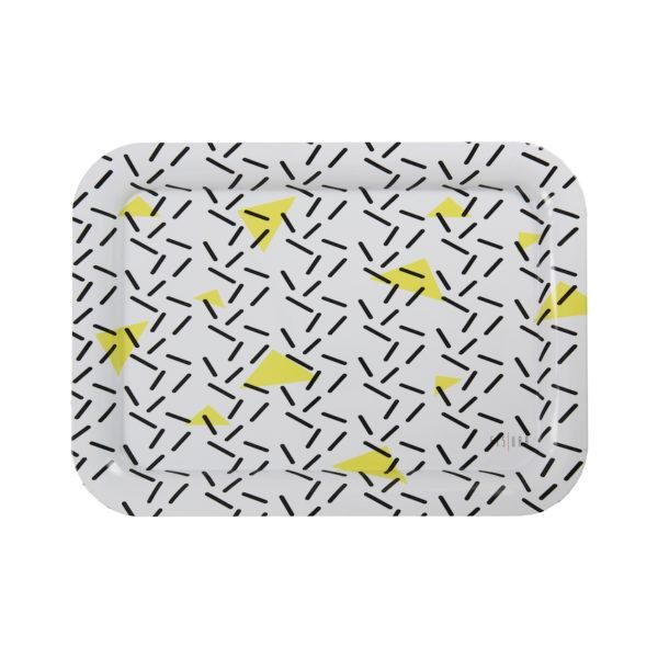 Bloc Pattern Metal Serving Tray