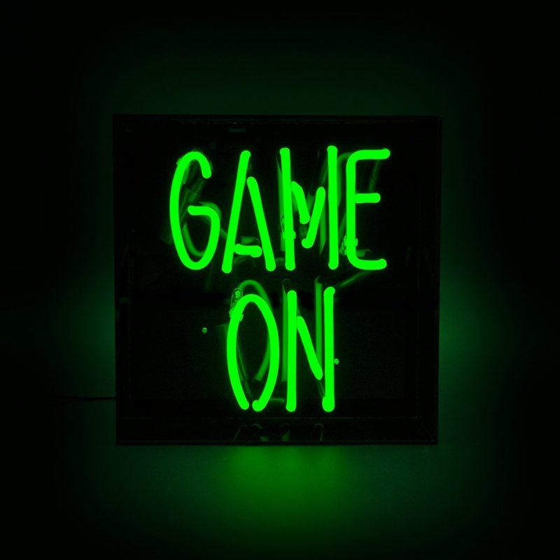 Game On Acrylic Neon Light Box