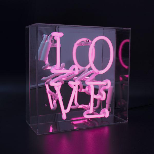 Love Acrylic Neon Light Box
