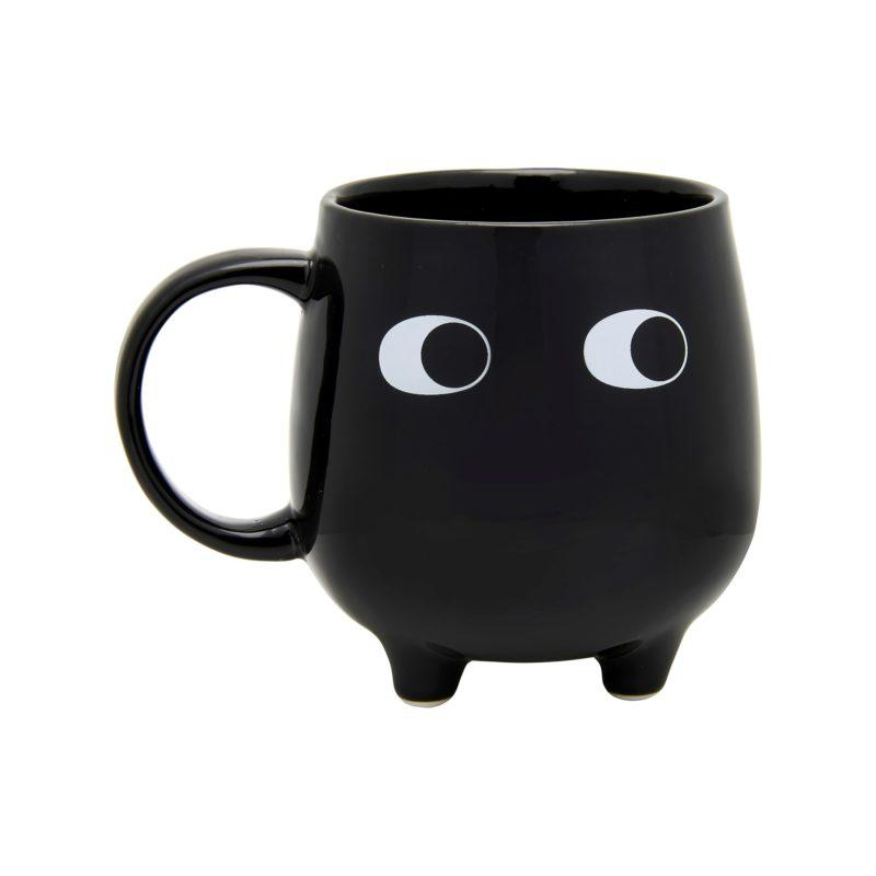 Little Leggy Black Mug