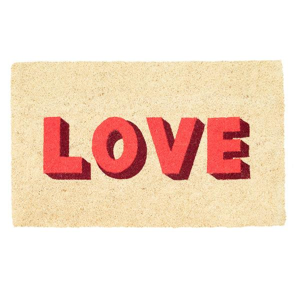 Love Block Letter Doormat