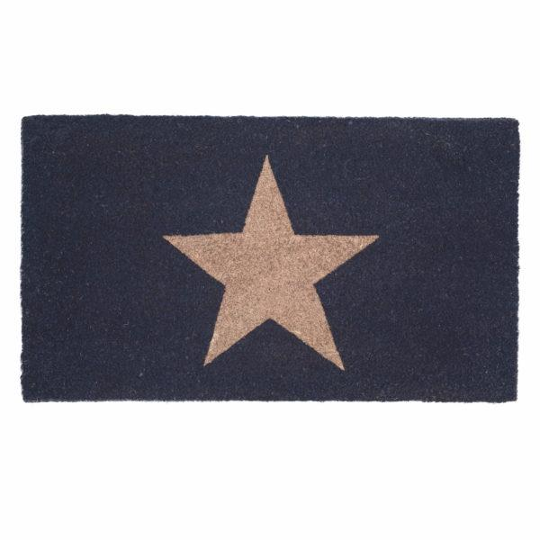 Copper Glitter Star Navy Doormat