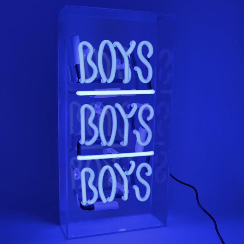Boys Boys Boys Acrylic Neon Light Box