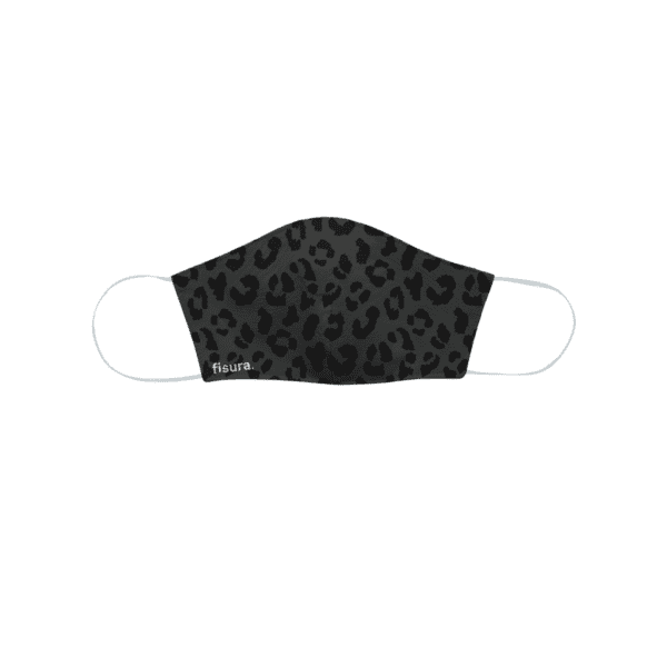 Adult Face Mask - Black Cheetah