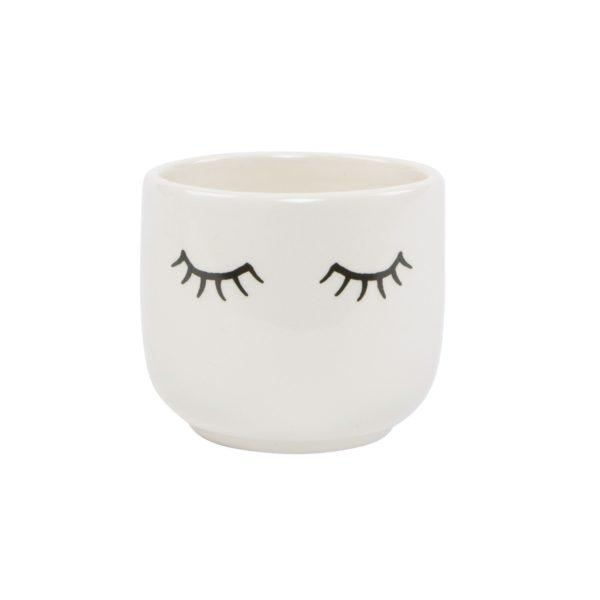 Eyes Shut Mini Planter