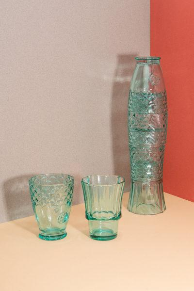 Koifish Stacking Glasses Set of 4 - Mint Green