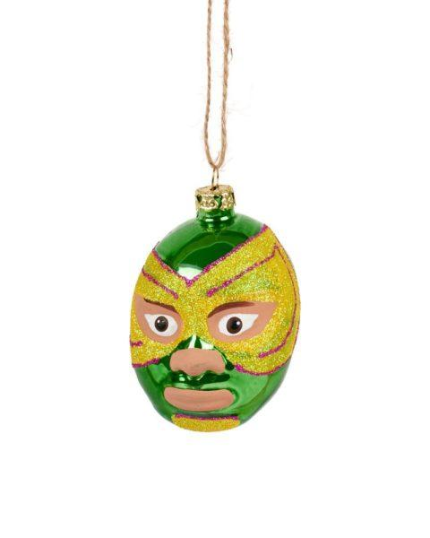 Mexican Wrestlers Head Christmas Decorations