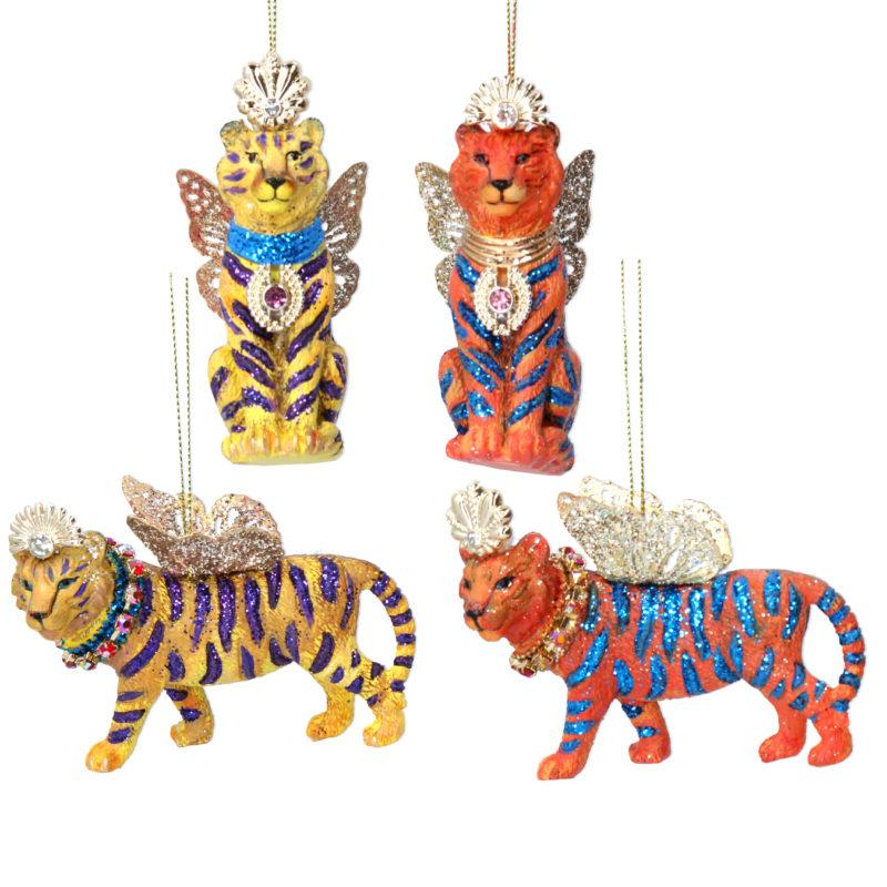 Fantasy Gold Standing Tiger with Wings Christmas Decoration