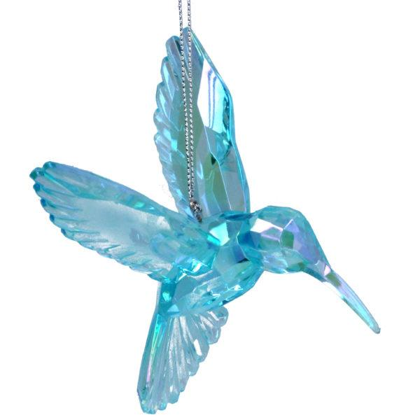 Blue Hummingbird Christmas Decoration
