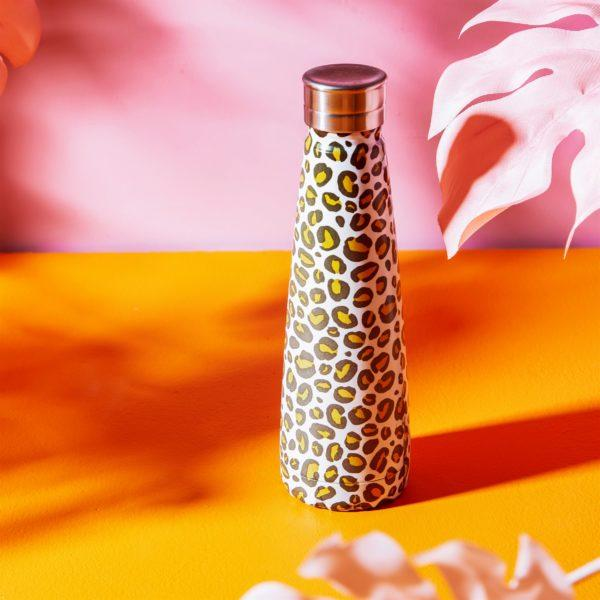 Leopard Print Stainless Steel Water Bottle