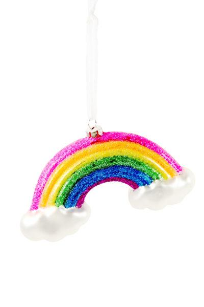 Large Neon Rainbow with Clouds Christmas Decoration