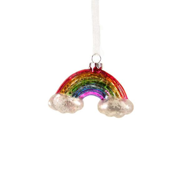 Small Neon Rainbow with Clouds Christmas Decoration