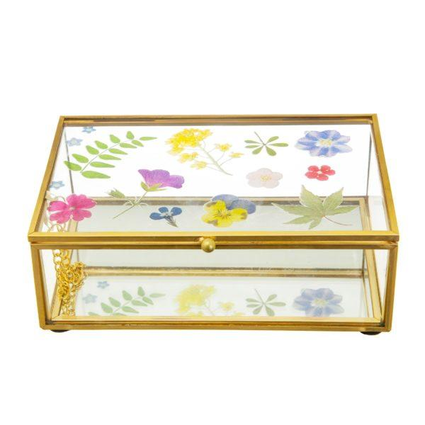 Pressed Flowers Jewellery Box