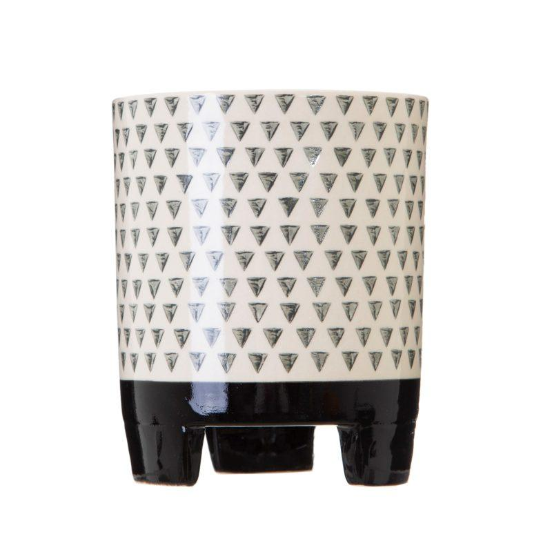 Large Geometric Monochrome Planter