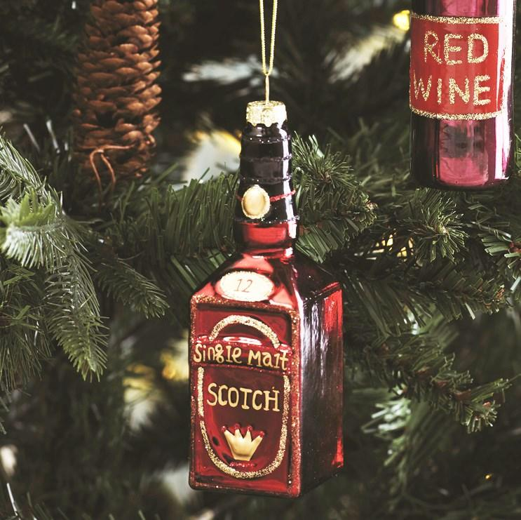 Malt Scotch Whiskey Christmas Tree Decoration