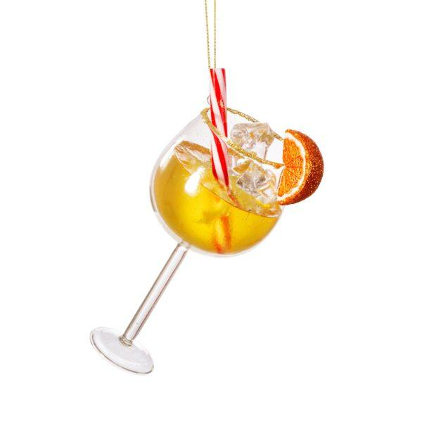 Aperol Spritz Glass Christmas Tree Decoration