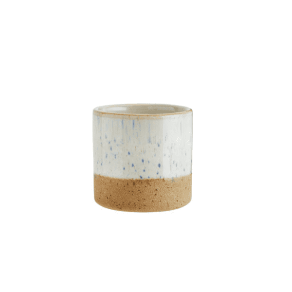 White/Natural Two Tone Plant Pot