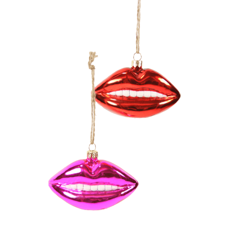Juicy Lips Christmas Decoration