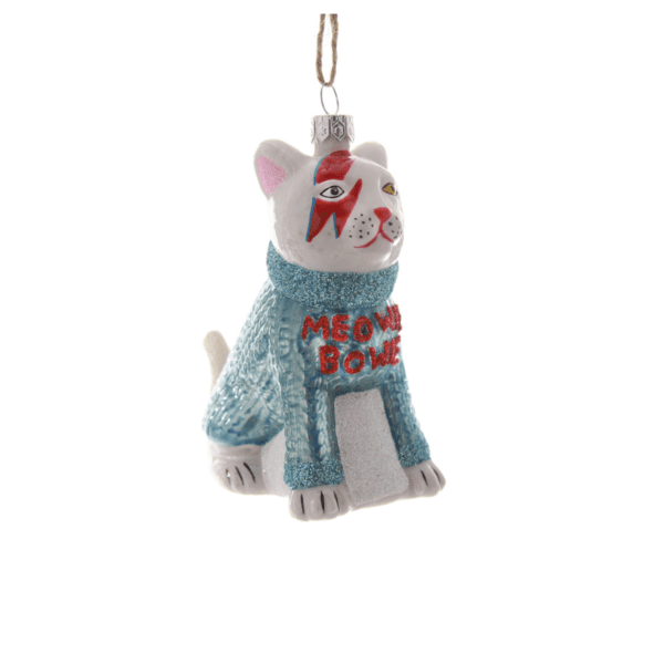 Meowie Bowie Cat Christmas Tree Decoration