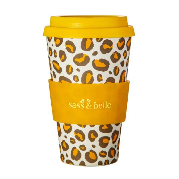 Leopard Print Bamboo Coffee Cup